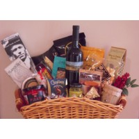 Gourmet Goodies Gift Basket with wine